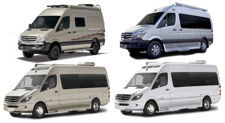 Exclusively Mercedes Benz Sprinter Luxury Solar Campervan Rentals
